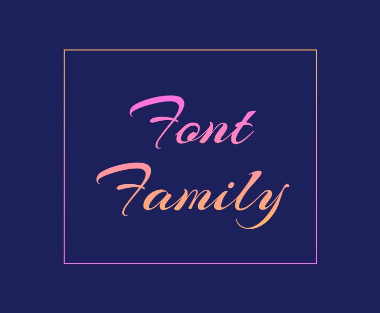 New Font Family
